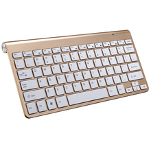2.4G Ultra Slim For Apple Style teclado Wireless Keyboard Scissors Feet clavier for Mac Windows XP 8 7 10 Vista Android TV Box(China)
