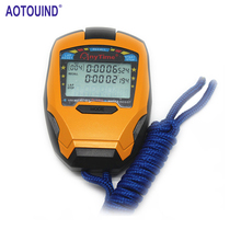 3 Rows 100 Laps 1/1000 Seconds Professional Handheld Stopwatch Sports Stopwatch Digital Counter Timer with Strap #T08(China)