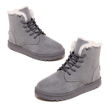 ASDS 1 pair Women's winter boots warm Snow Boots fashion ankle boots
