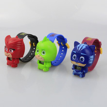 6 Kinds Cartoon Pj Masks Party watch Characters Catboy Owlette Gekko Cloak Masks Action Figure Toys Vinyl Doll Girls Toy Gift