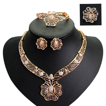 Beads Necklace Earrings Bracelet Rings Set Jewelry Sets For Women Party new Crystal Wedding Bridal Accessories African