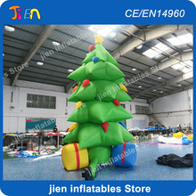 free air shipping to door,13ft/4m outdoor giant inflatables Christmas decoration tree with Gifts box and Stars(China)