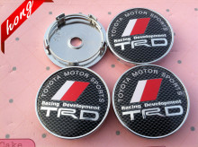 4pcs Free shipping 60mm toyoyas TRD emblem Wheel Center Hub Caps Dust-proof Badge logo covers car styling Auto accessories