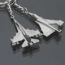 1PC Car Keyring Aircraft Fighter Jets Metal Alloy Warplane Keychains Creative Gift 2 Styles Random Sent