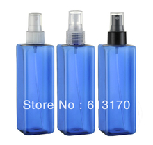 250ml PET spray bottles Empty blue atomizer containers Travel refillable DIY spray bottle wholesale/retail free shipping