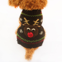 Army store Christmas Deer Pattern Knit Dog Sweater Dogs Autumn / Winter Sweaters 6091019 Puppy Clothing Supplies(China)