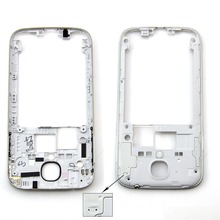 White Middle Frame Housing Case Replacement Part Bezel For Samsung Galaxy S4 I9500 I337 i9505 M919,Free shipping