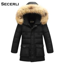 2017 New Long Hooded Boys Winter Jacket Coat White Duck Down Girls Winter Clothes 6 8 10 12 15 Years Baby Boys Coat Warm Jacket