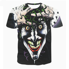 Brand Clothing Summer Style Men Fashion T shirt 3D joker Animal Cat Lion Coral Hip Hop Fitness Tshirt Homme Camisetas