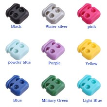 25pcs Pack Plastic colorful Shoes Buckle Rope Clamp Cord Locks Stopper Shoelace Decorations #A056