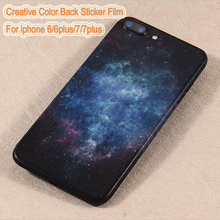 2017 Creative Color Back Film Sticker Cellphone Protective Sticker Wrap Skins Paste Phone Back Shell for iphone 7/7plus/6/6plus