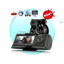 Free shipping Cheap NEW Arrival!X3000 R300 HD 720P GPS Cam Video Camcorder Car Camera Recorder DVR LCD G sensor