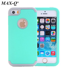 MAX-Q Nice Colorful Silicone Varnish 3 in 1 Heavy Duty Anti Shock Armor Hard Case Cover For Apple iPhone 5C 5 5g SE 5S Cover