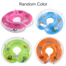 Baby 3Pcs Colorful Catoon Adjustable New Baby  Aids Infant Swimming Neck Inflatable Tube Float Safety Ring Hot Selling