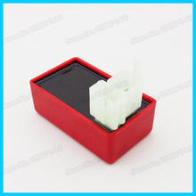 Red Square Plug 6 Pin AC CDI Box For 50 110 125 150cc 200cc 250cc Taotao Kazuma Go Kart ATV Quad Dirt Bike