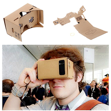 Google Cardboard Cardbord Lnette Video 3 D Gerceklik Virtual Reality Goggles 3D VR Glasses Smartphone Helmet Headset Lens VR Box(China)
