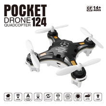 FQ777-124 RC Drone Mini Quadcopter Micro Pocket 4CH 6Axis Gyro Switchable Controller Helicopter Kids Toys VS JJRC H20 H36 Drones(China)