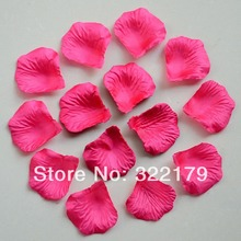 1000pcs Hot Pink Silk Rose Petals Wedding Party Decor Confetti Favor Rose Petals(China)