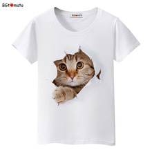 BGtomato Super cute 3D cats T-shirt women lovely cool summer clothes Good quality comfortable tops casual tees brand shirts(China)
