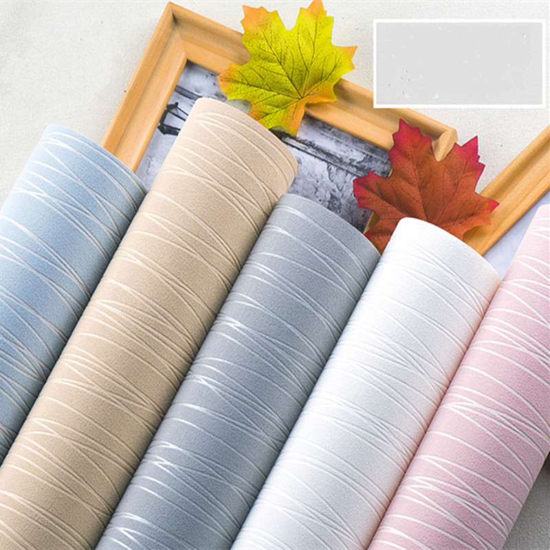 Simple Striped  Nonwoven Fabric Soft wall paper roll wallpapers for living room bedroom Backdrop Solid-color 3D wallpaper<br>