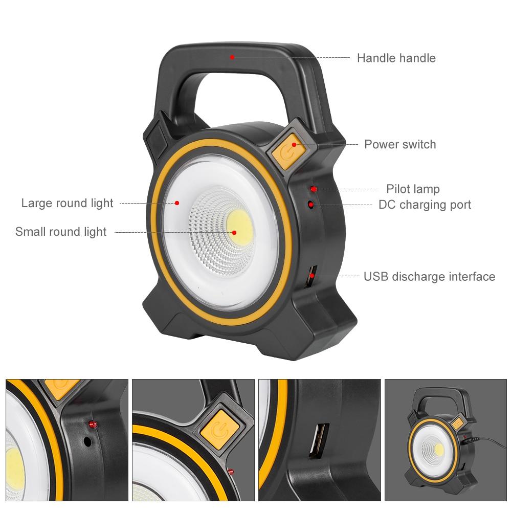 Portable USB Rechareable Solar Powered COB 16 LED Camping Fishing Tent Light