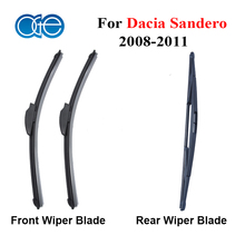 Wiper Blade For Dacia Sander 2008-2011 Front And Rear Silicone Rubber Windshiled Glass Windscreen Wipers Auto Car Accessories(China)