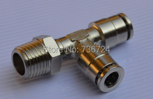 MPD 8-03 Tube size 8mm ,thread 3/8 bsp thread  brass pneumatic fitting TEE male tube fitting