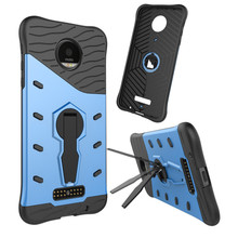 For Motorola Moto Z /Z droid Phone Case Shockproof 360 rotating swivel bracket Netted heat dissipation Armor Phone Case Cover