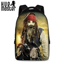 HUE MASTER 17 inch spoof painting classical school backpack youth boys and girls laptop bag can store 15 inch computer