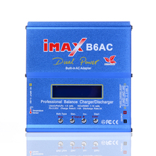 High Quality iMAX 80W B6AC LCD Display Quick Discharger For Lipo NiMH RC Battery Balance Charger + EU US  Plug Power Supply Wire