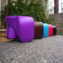 Black/Red/Blue/Purple/Brown Camera Case Bag Leather Case Cover for Digital Camera Sony NEX6 Free Shipping(China)