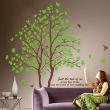 Large 3D Removable Dining Room Wall Stickers Home Furnishing Decorative Wall Stickers Green Trees