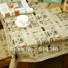 fashion style 140x180cm linen grey printed upholstery decoration dining table linen table cover table cloth