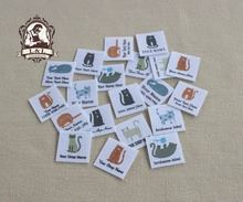 96 Kitty Labels, personalized name tags with cats - kids or baby labels(China)