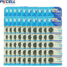 20card/100pcs PKCELL batteries CR2032 3V Lithium Button Battery BR2032 DL2032 ECR2032 CR 2032 Lithium Batteries(China)