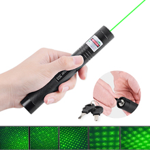 Green Laser Portable 303 5mW  Laser Pointer Pen Powerful light burning laser Adjustable Focus 4000MAH 18650 Battery + charger