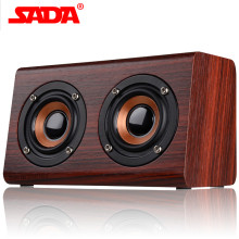 SADA 2017 New Wooden Bluetooth speaker suitable for mobile phone notebook speaker PC socket TF card/AUX mini speaker bass sound(China)