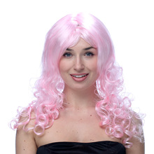Colored Big Long Wave 48CM Wig Party Hats for Halloween Christmas Masquerade Dress Show Grand Event Women Festival Cosplay Props