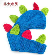 New 0-3 Months Soft Adorable Hand-woven Dinosaur Cute Newborn Crochet Baby Clothes Baby Photo Photography Props