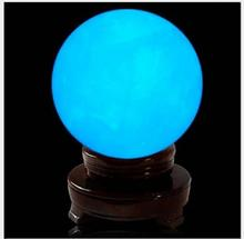 Delicate Glow In Dark Quartz Crystal Sphere Ball Luminous 3.5cm 60g without base