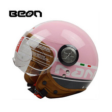 Pink women motocross Riding BEON Helmet ,moto half face motorcycle scooter electric headpiece M L XL BLACK YELLOW(China)