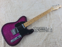 free shipping hot wholesale TELE handmade pattern purple spot sale guitar telecaster electric guitar @7(China)