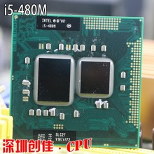 Shipping free Intel Core I5 480m cpu 3M/2.66GHz/2933 MHz/Dual-Core Laptop processor I5-480M Compatible HM57 HM55