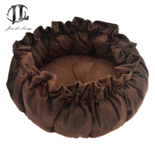 2017 Round Pumpkin Nest Pet Bed Dog Kennel Drawstring Elastic Pad Thickening Washed Cotton Soft Dog House Mat Shrink Band
