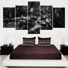 Multi Sizes Canvas Art Print Modern Abstract Paintings White And Black Landscape Picture Vintage Artwork Wall Decoration Ideas
