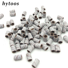 100pcs/Lot White Nail Art Sanding Bands for Manicure Pedicure Electric Nail Drill Accessories Nail Tools Size 80# 150# 240#(China)