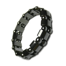 Health Magnet Bracelet Anti Radiation Black Ceramic Stainless Steel Clasps Bracelets Hematite Jewelry For Man drop shipping gift