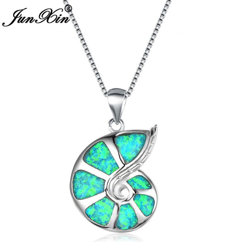 Fashion Woman 925 Silver Turtle Pink Fire Opal Charm Pendant Necklace Chain