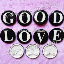 30PCS/LOT,4.5cm(1.7 inch),A-Z letters badge,Fashion button,Brooch pins,Team logo,Goody bag.Kindergarten crafts.Wholesale.OEM(China)