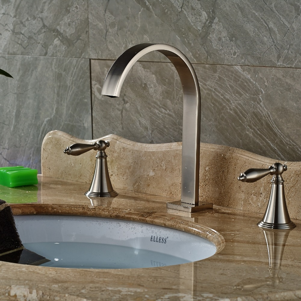 Nickel bathroom faucet